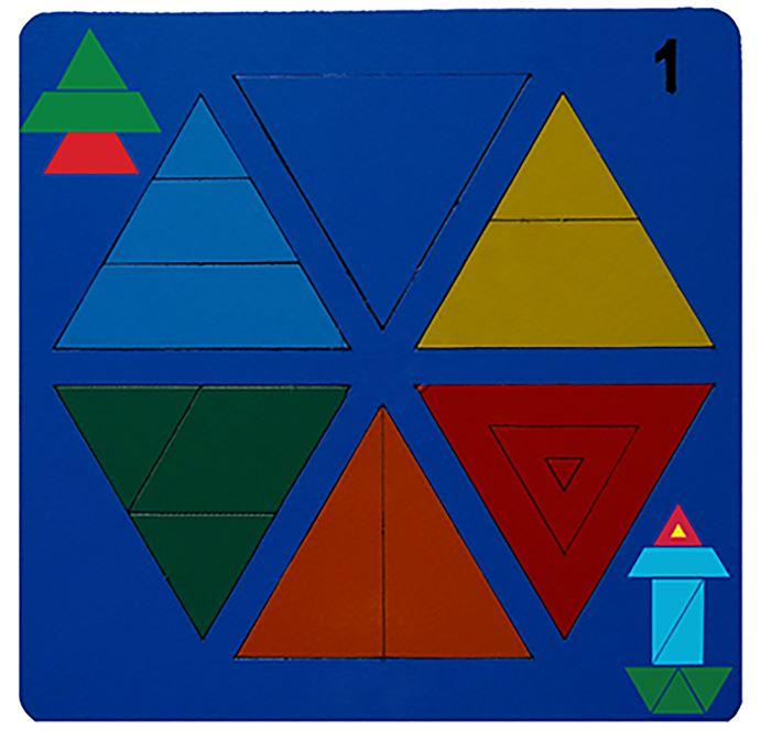 Сложи треугольник №1 (Н. Семёнова) - автор Н. Семёнова.  Возраст: от 3 до 4 лет Размеры: 20 cm × 20 cm × 0 cm