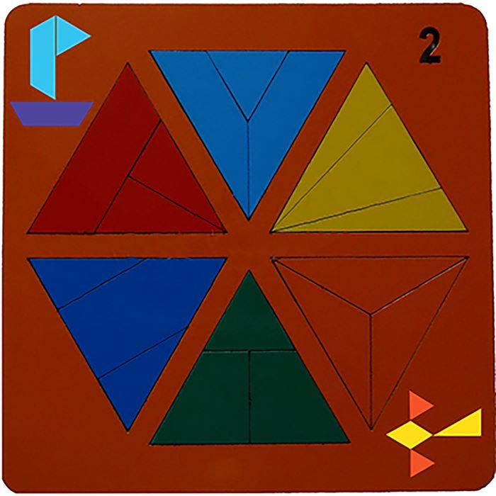 Сложи треугольник №2 (Н. Семёнова) - автор Н. Семёнова.  Возраст: от 3 до 4 лет Размеры: 20 cm × 20 cm × 0 cm