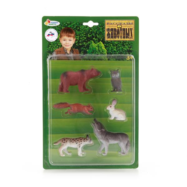 Играем вместе. Набор из 6-и животных средней полосы арт.BC150406 -