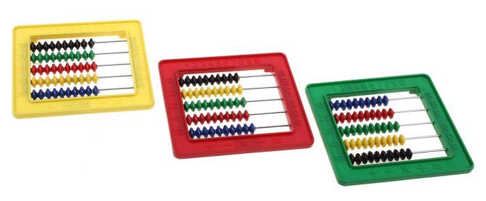 Счеты занимательные-1 - Материал: пластик  Размер  0,5 см × 11,5 см × 11,5 см