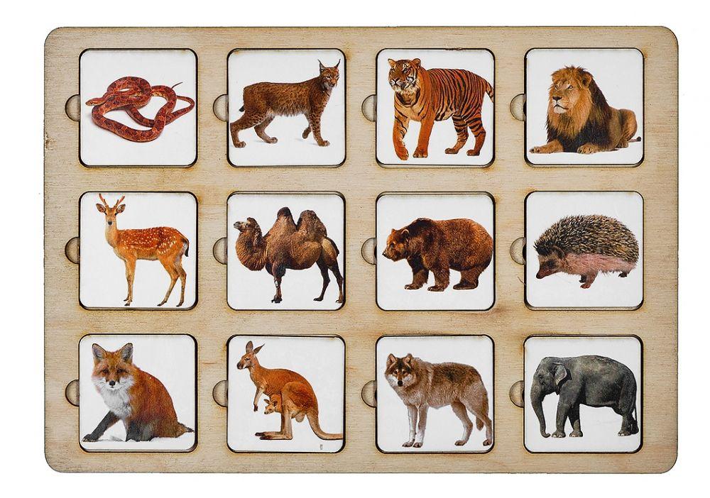 Секретики Зоопарк - Размер планшета: 15 см*21 см Материал: фанера, бумага