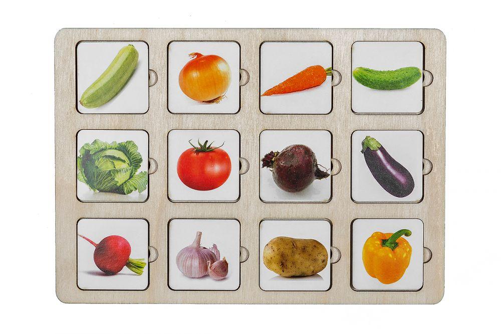 Секретики Овощи - Размер планшета: 15 см*21 см Материал: фанера, бумага