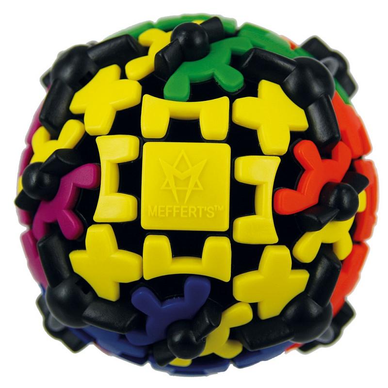 Головоломка MEFFERT'S M5031 Шестеренчатый шар - Задача — собрать каждый из 6 цветов на своей стороне, научившись справляться с упрямыми шестеренками!