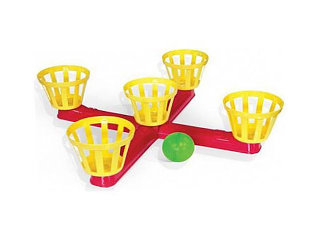 Напольная игра «Веселый баскетбол» - В комплект входят стойка с пятью корзинами, 5 выдувных шариков и инструкция