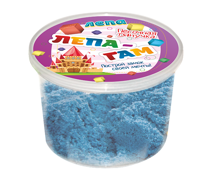 Лепа-Гам синий 0,2 кг - Песочная тянучка