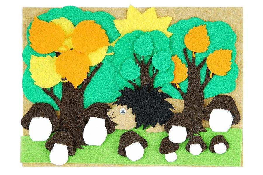 Три дерева с игровым полем мини - Игра для сравнения, выяснение понятий, большой,средний,маленький