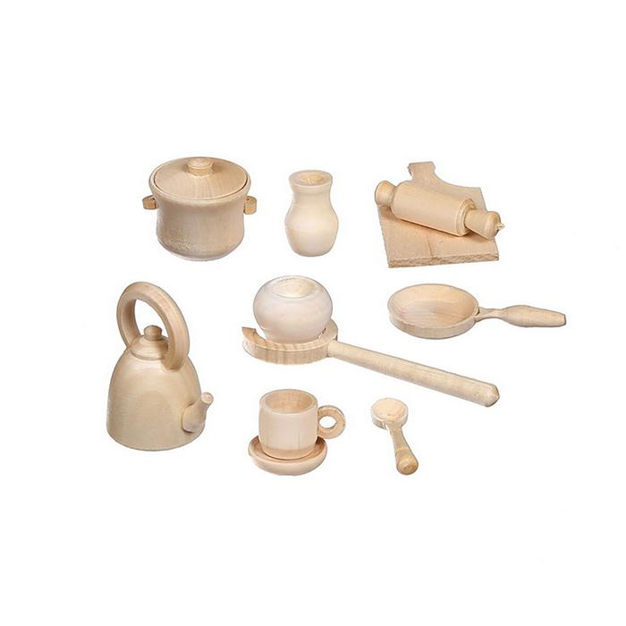 Посудка кукольная (набор) ДИ1020 - Размер: 2-7 см