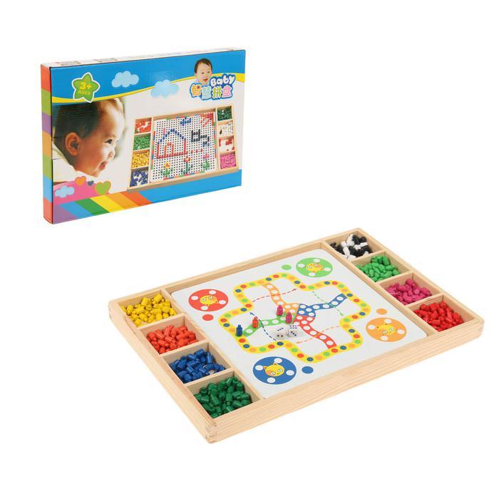 Мозаика с игрой-бродилкой - Размер 40 см 28 см 3,5 см