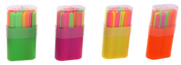 Набор счетных палочек 50шт в пенале микс - Размер упаковки  8 см × 4 см × 2 см В наборе, шт  50