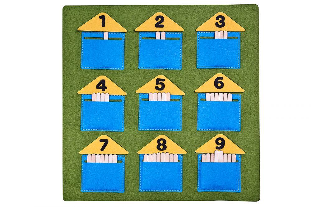 Домики - считалки - Материал: фетр Размер ковра: 31,5 см*31,5 см