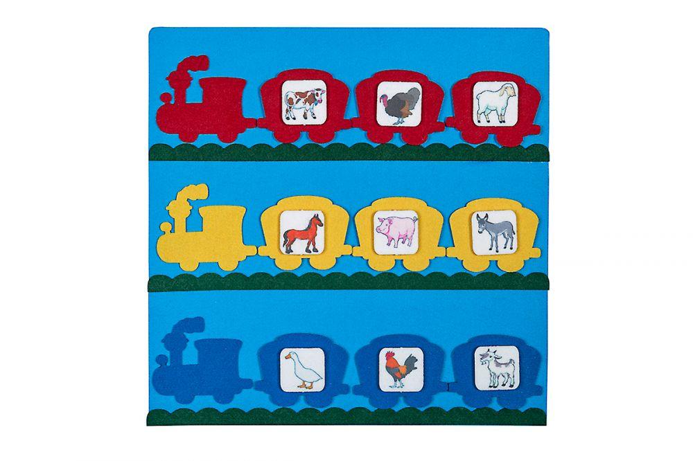 Коврик Паровозики - Материал: фетр Размер ковра: 31,5 см*31,5 см