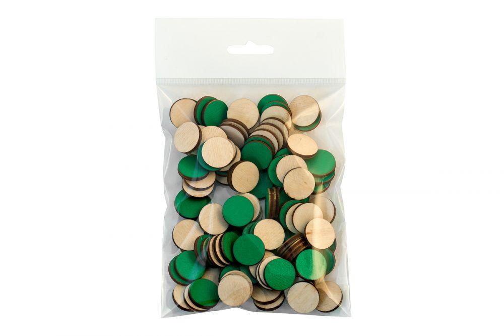 Счетный набор Круги - Материал: фанера Диаметр кружков 2 см В наборе: 100-110 шт