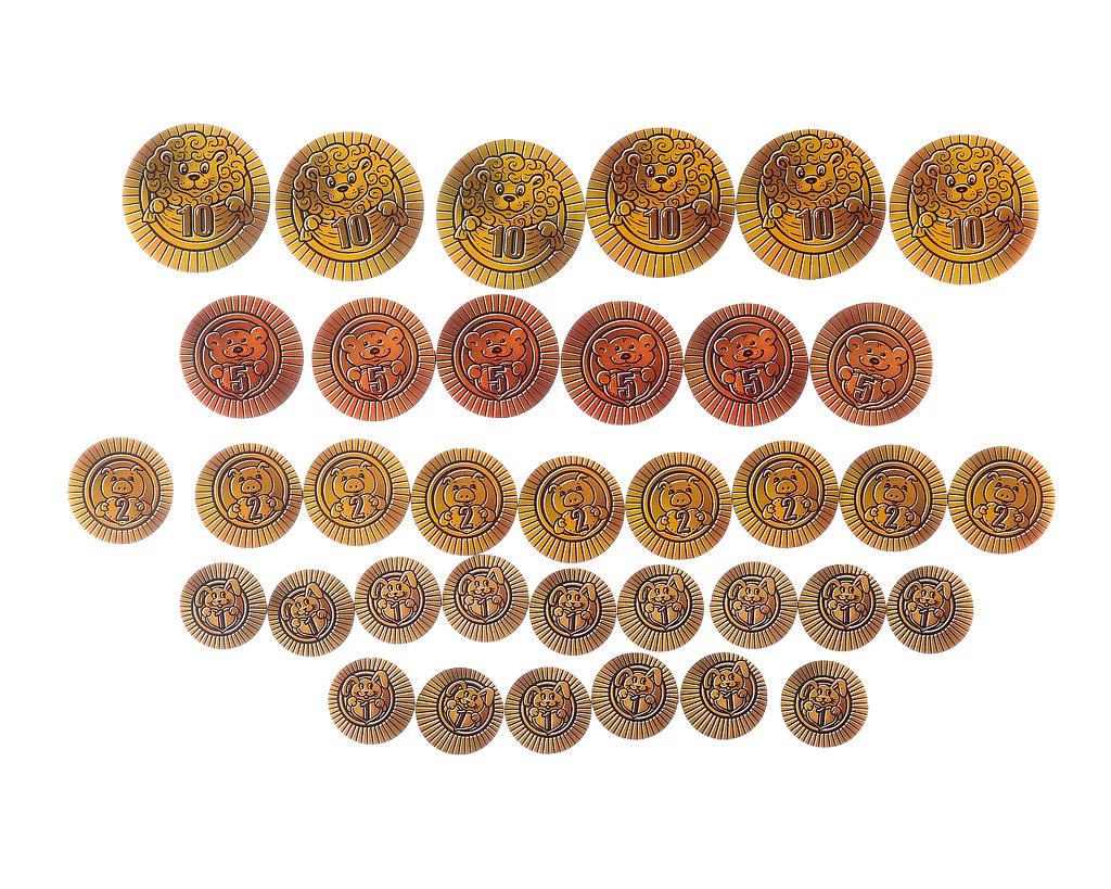 Детская монетная система - Материал: фанера Диаметр монет: 2 см - 3,5 см