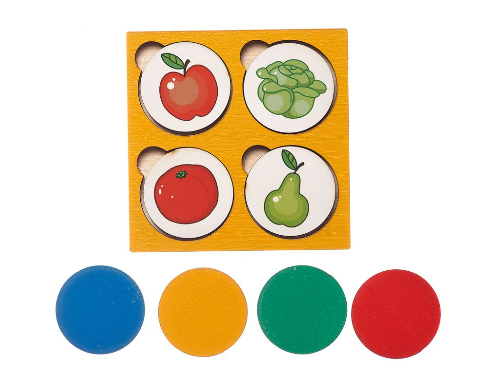 Запоминалки Овощи-Фрукты - Простая и полезная игра для развития внимания и памяти; для изучения понятий