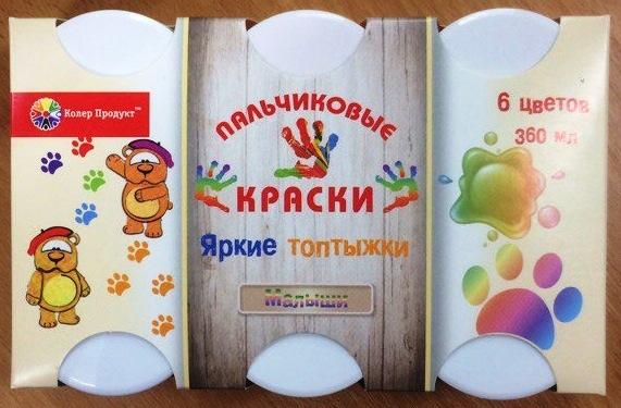 Колер Продукт. Пальчиковые краски арт.16-КП-6М-60