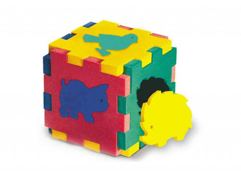 Флексика. 45403 Конструктор кубик с животными - Ребро кубика примерно 10 см.