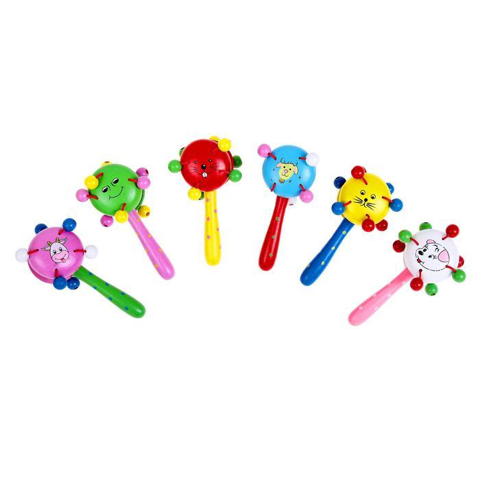 игрушка музыкальная погремушка микс 14 см - Размер  3 см × 5 см × 14 см