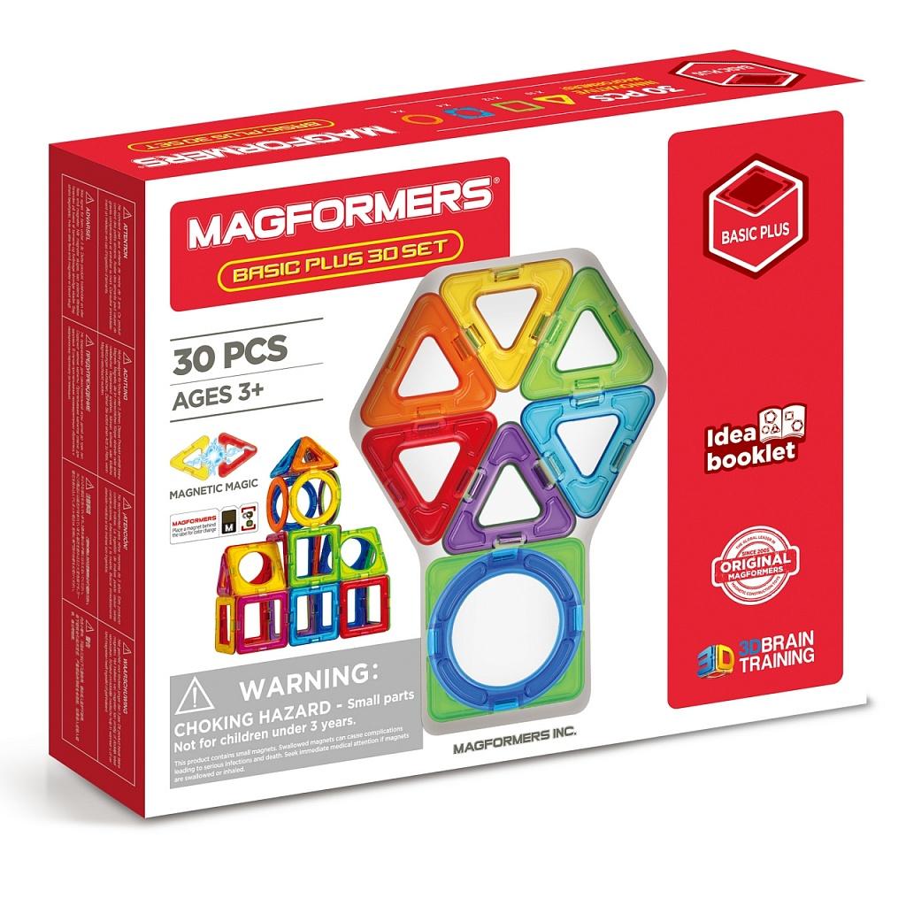 Магнитный конструктор MAGFORMERS 715015 Basic Plus 30 set - Набор