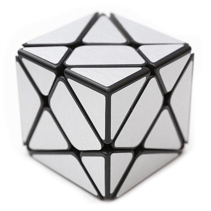 Головоломка FANXIN 581-5.7R Кубик Трансформер Серебро/Золото - Аксис Куб — одна из самых сложных разновидностей кубика Рубика 3×3. Считается сложнее, чем другие модификации, такие как Фишер или Мельница. В разобранном виде выглядит пугающе, но собирается по тем же алгоритмам, что и классический кубик 3×3.   Первый ша