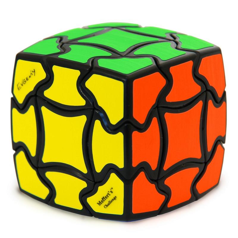 Головоломка MEFFERT'S M5037 Кубик Венеры - Jсобенность этой головоломки — ее форма. Кубик Венеры, по правде говоря, не совсем куб, так как его стороны слегка выпуклые из-за чего получается более округлая форма, что-то среднее между кубом и шаром.
