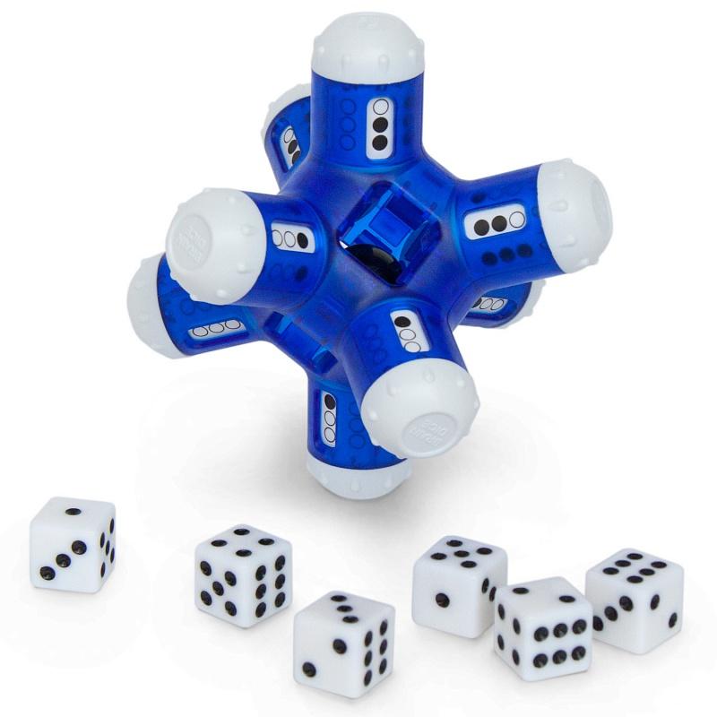 Головоломка RECENT TOYS RT42 БомбоСчет - Бомбосчет (в оригинале BrainDice) — математическая головоломка на устный счет. В основе 6 игральных кубиков и корпус с 8 цилиндрическими шипами из-за которых игрушка похожа на морскую мину.