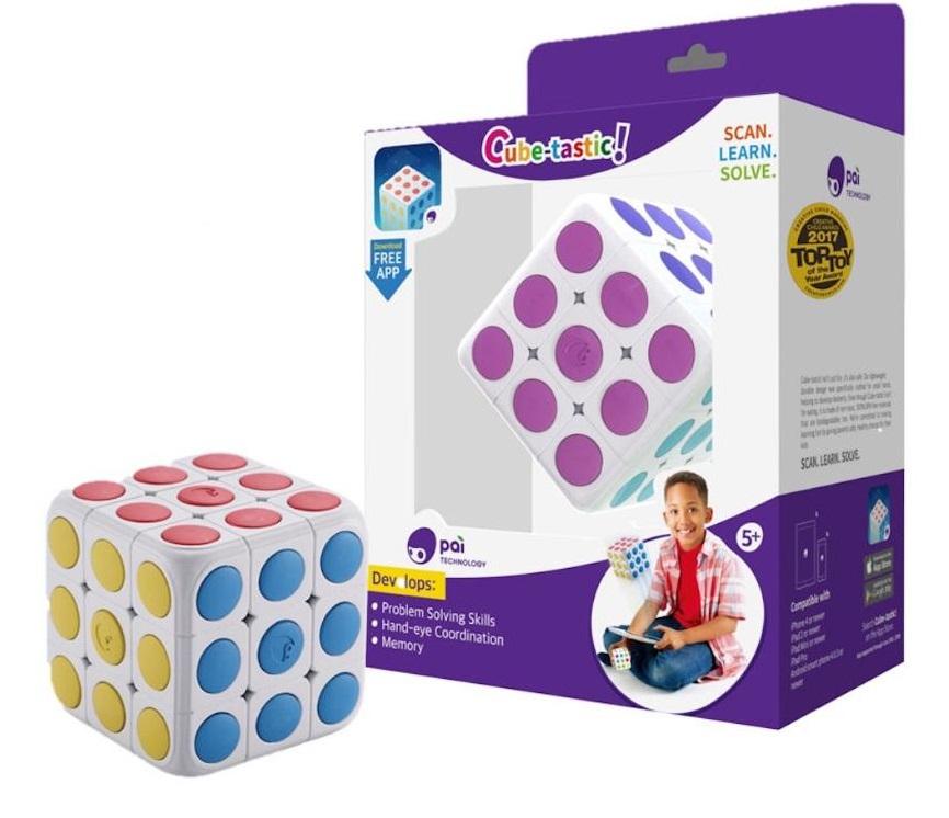Головоломка ROOBO P0001U Cube-tastic - Как научить ребенка собирать кубик Рубика? Знает Roobo Cube-Tastic. Взаимодействуя с планшетом или смартфоном, он покажет, как собрать кубик Рубика из любого положения.