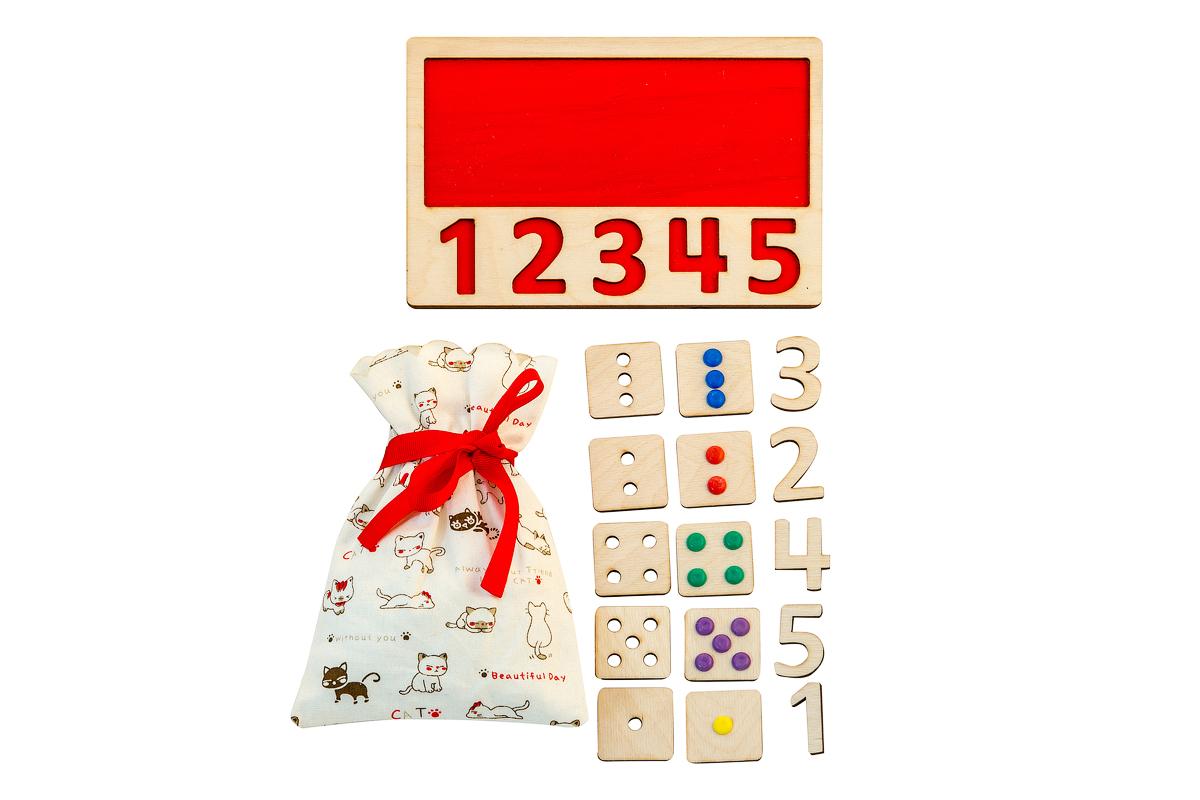 Чудесный мешочек с цифрами - Игра для развития мелкой моторики и тактильных ощущений.