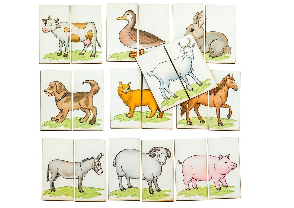 Картинки-половинки Ферма - Первое знакомство с пазлами. Игра предназначена для детей от 1 года.