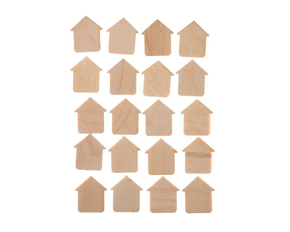 Счетный набор Домики - Размер домиков: 3,5 см*4 см В наборе: 20 шт.