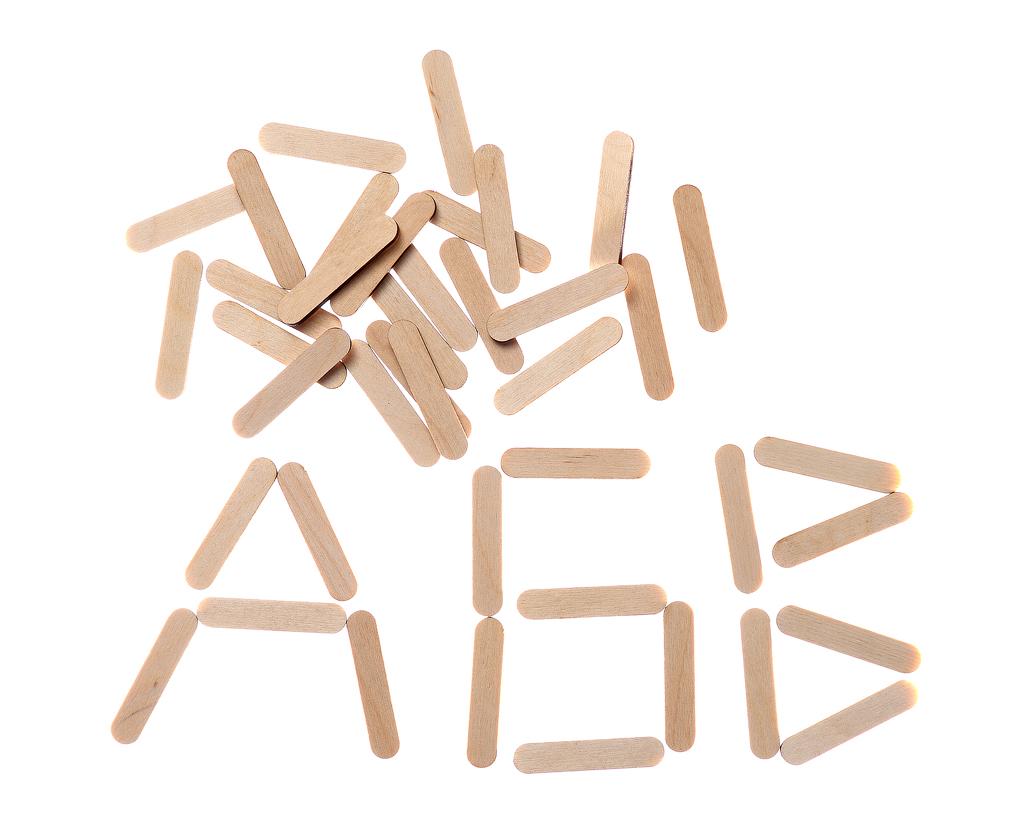 Счетные палочки - Размер палочки: 1 см* 4,8 см В наборе: 40 шт.