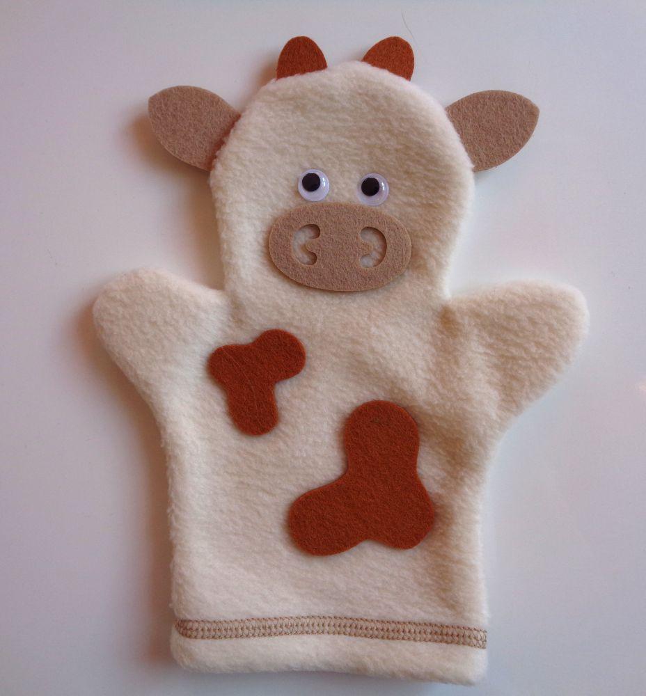 Кукла на руку Корова - Размер: 25 см*19 см