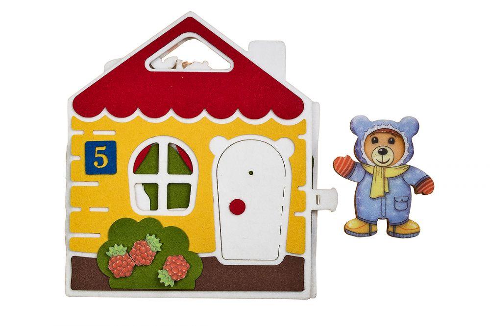Развивающая игра из фетра Мишкин дом - Материал: фетр Размер домика: 23 см* 20 см Размер медведя: 10 см*8 см