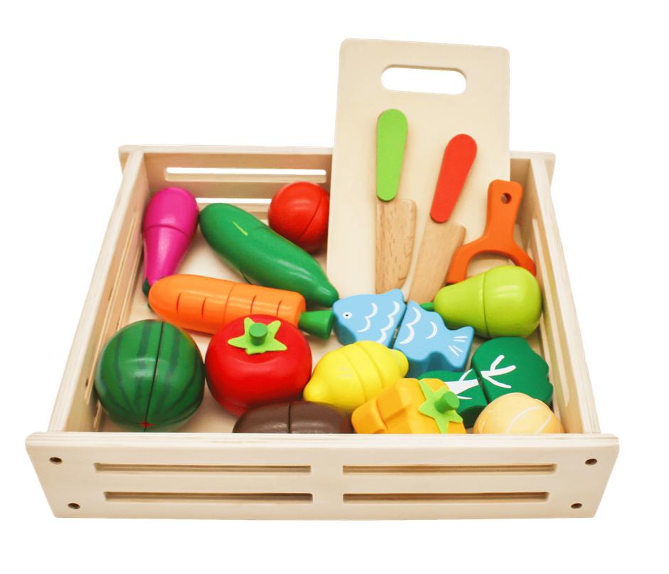 Набор овощей и фруктов, серия
