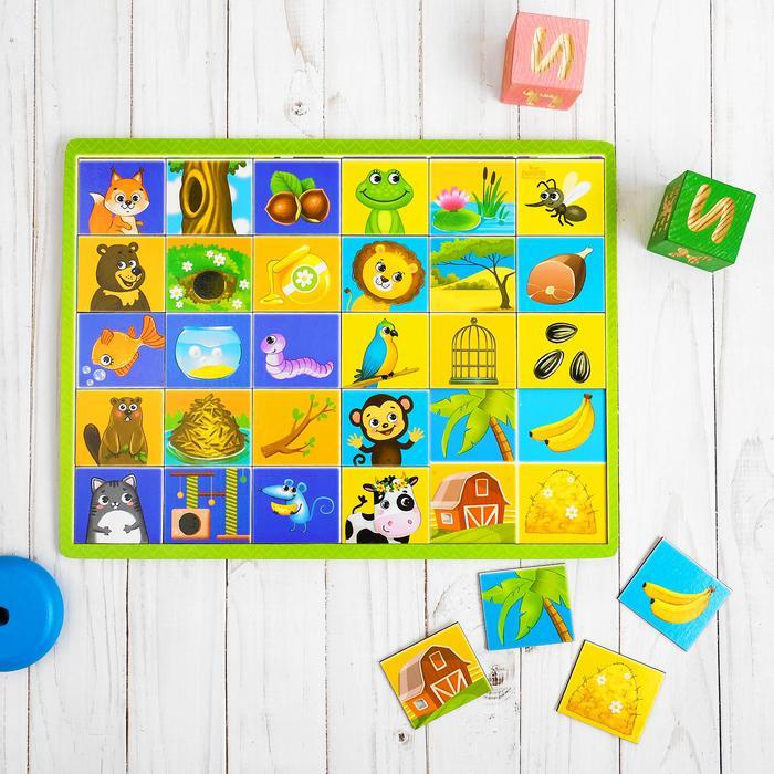 Логическая игрушка с разрезными картинками