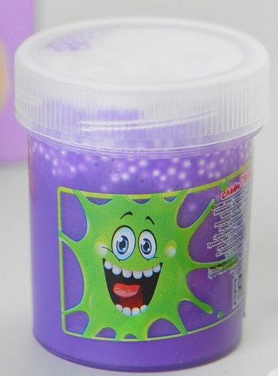 Слайм Плюх 7218FITU 40g фиолетовый, туба с шариками - Слайм – это эластичная масса, которую можно тянуть и мять сколько угодно. Он легко соединяется обратно в единую массу, если  порвётся.