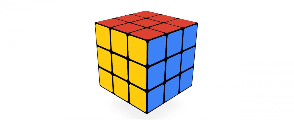 Игра логическая 3х3 (аналог кубика Рубика) 6,5 см -