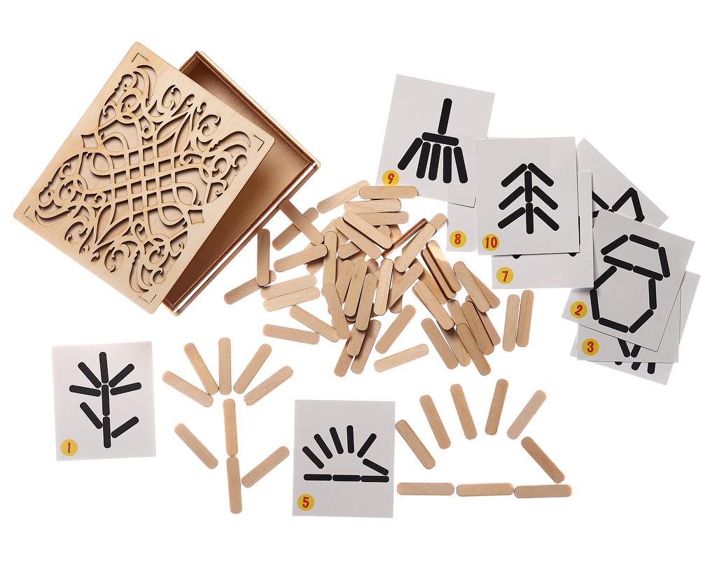 Мозаика из палочек Мой мир - Игра для развития внимания, мышления, фантазии, а также для обучения работе по образцу