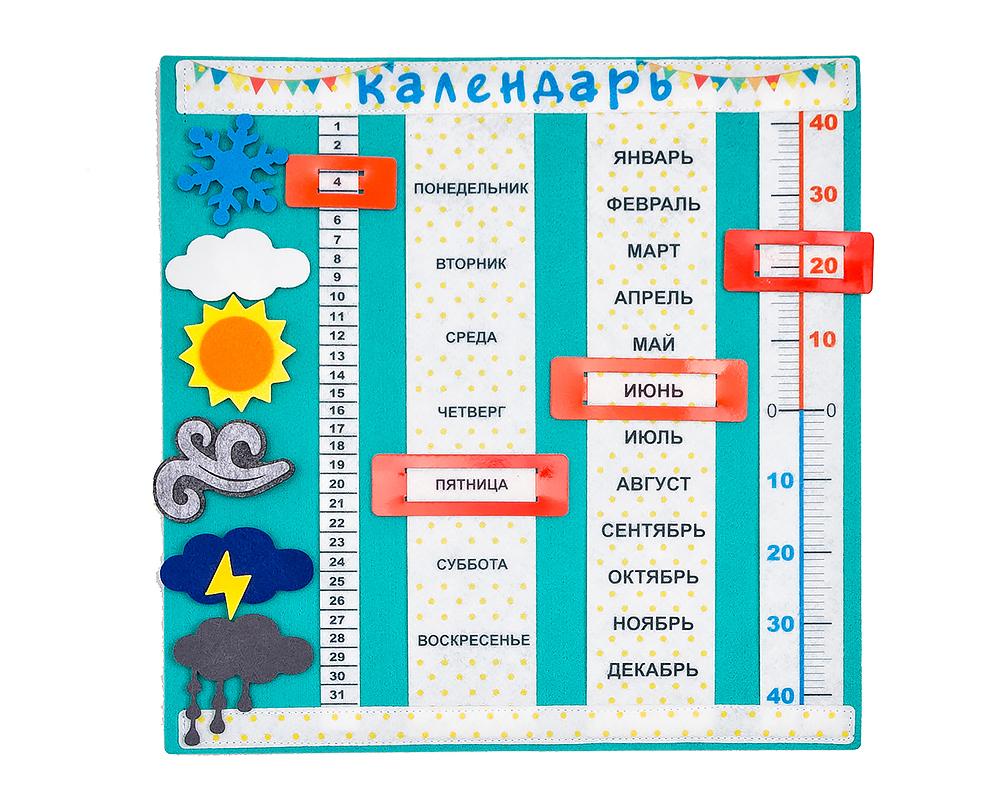 КалендарьизфетраДоброеутро - Материал: фетр Размер ковра: 31,5 см*31,5 см