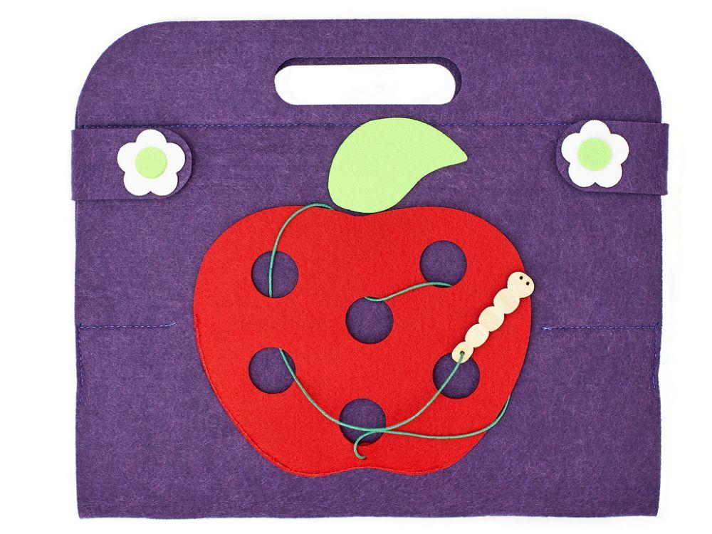 Сумка-игралка Овощи,фрукты и ягоды - Материал: фетр Размер сумки в сложенном виде: 23 см*26 см Размер кастрюли: 22 см*15 см