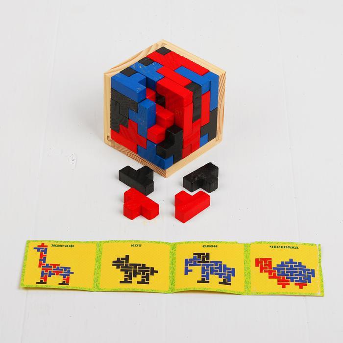 Головоломка-конструктор Тетрис 4358129 - Размер 6,8 см × 6,8 см × 6,8 см