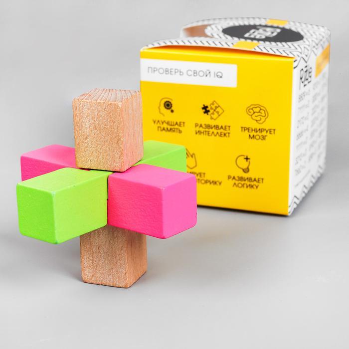 Головоломка сборная разноцветная 7,5х7,5х7,5 см   4361155 - размер 7,2 см × 7,2 см × 7,2 см