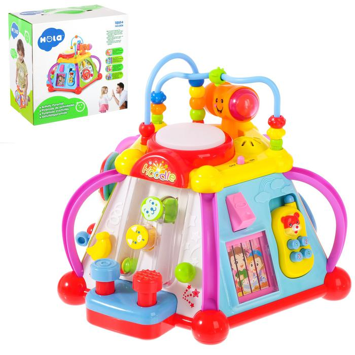 Развивающая игрушка «Логический центр», звуковые эффекты - Размер 30,5 см × 29 см × 16 см