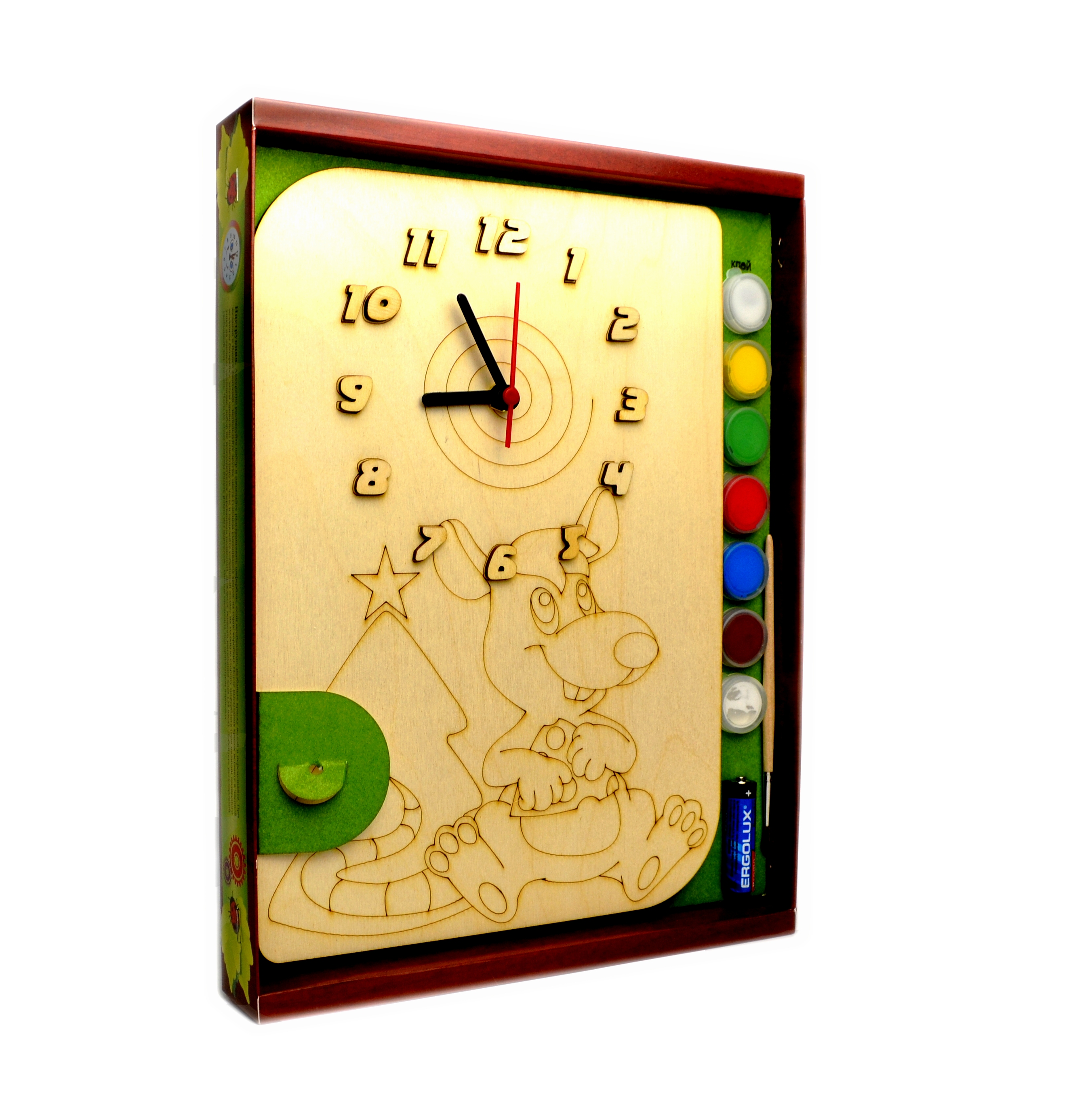 Часы с циферблатом под роспись