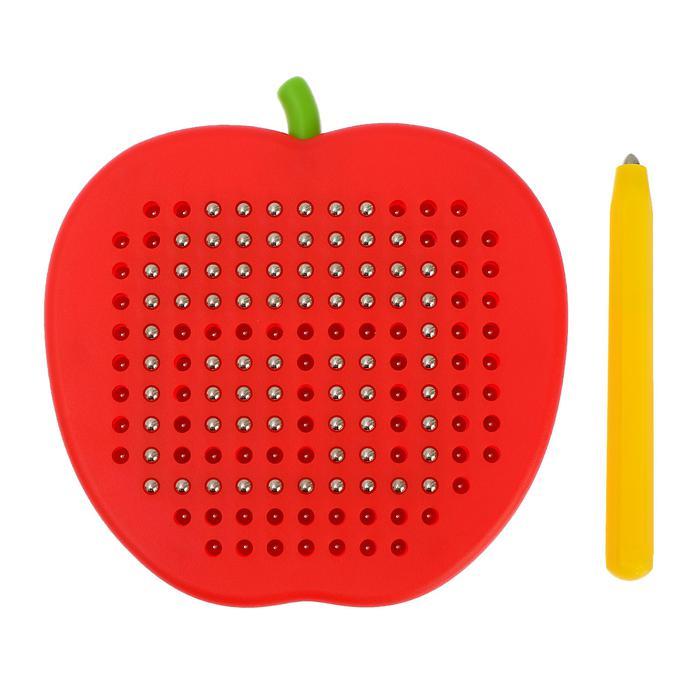 Магнитный планшет Яблоко маленькое, 142 отверстия - Размер 12 см × 2 см × 11,5 см