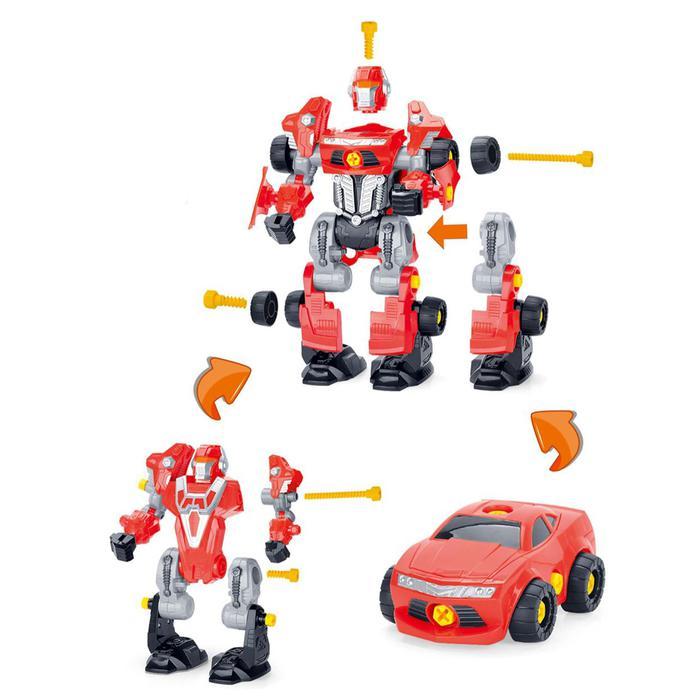 Конструктор-машина «Мега робот», 3 в 1, со световым шуруповёртом - работает от батареек