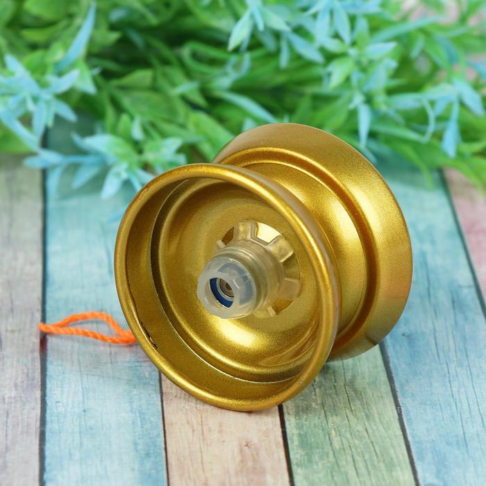 Йо-Йо «Супер», цвет золотой - Размер 5,5 см × 5,5 см × 3,5 см