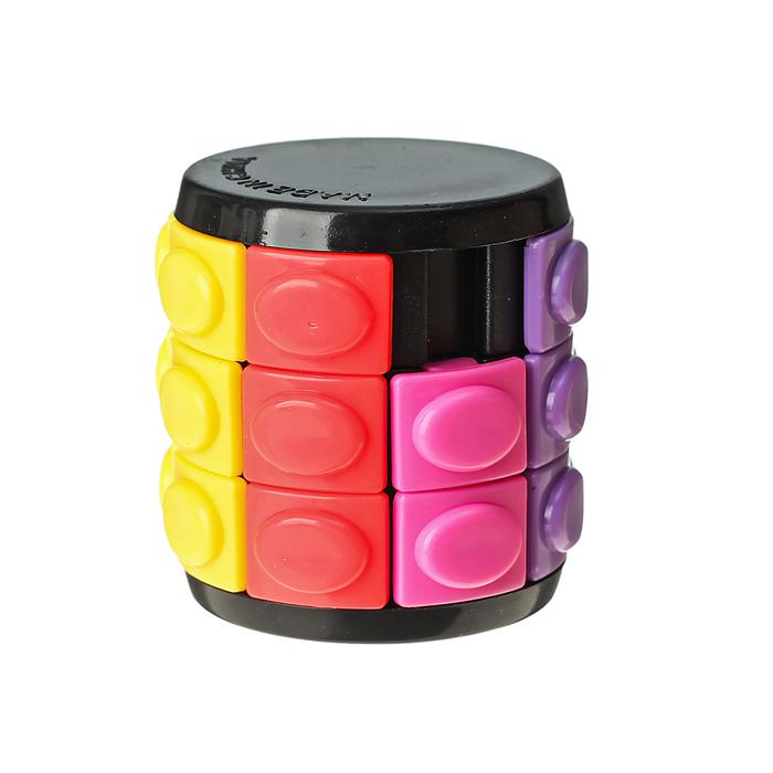 Головоломка «Пазл», 4х4 см - Правила просты: части кубика нужно поворачивать так, чтобы в итоге каждая его сторона состояла из одного цвета. Размер  4 см × 4 см