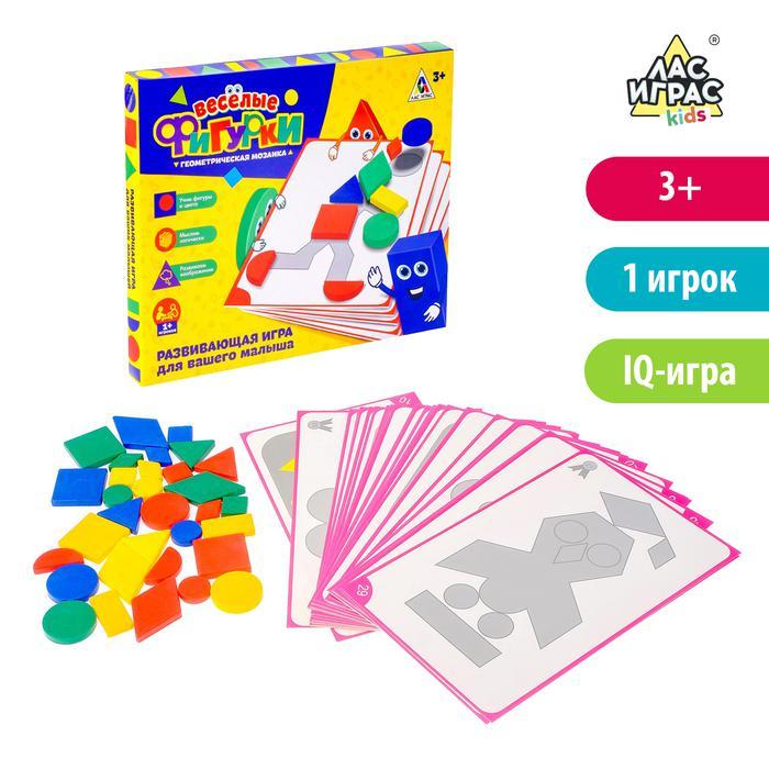 Настольная игра для малышей на логику «Весёлые фигурки» - Задача маленького игрока – составить изображённую фигуру или предмет с карточки из имеющихся геометрических фигурок. Таким образом малыш не только развивает мелкую моторику, учит фигуры и цвета, но и думает логически, учится составлять из частей целое.