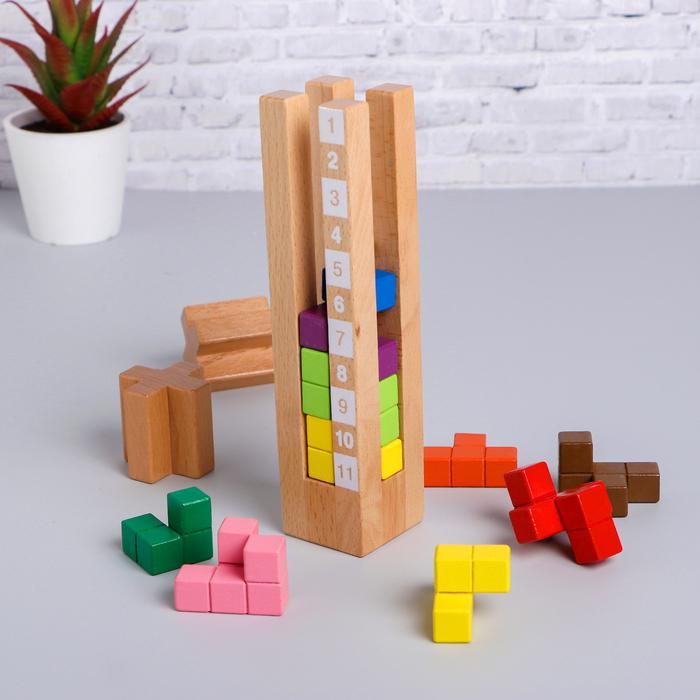 Развивающая игра «Попробуй собери башню» - 5,5×21,5×20,5 см