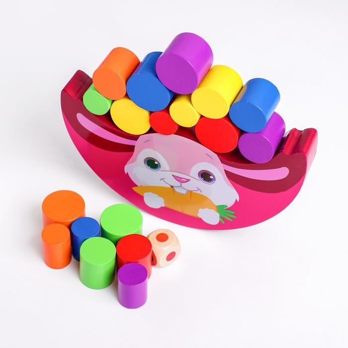 Деревянная игрушка «Балансир - зайчик» - 18×11×6 см